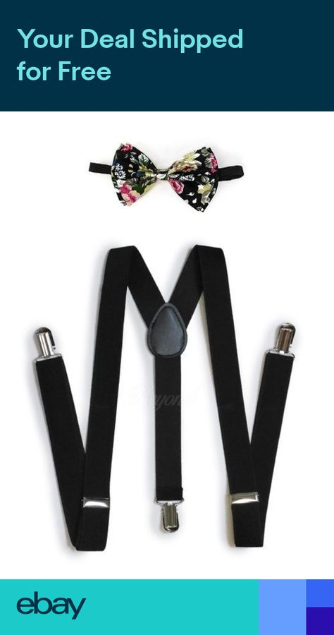 Suspender and Bow Tie Set for Adults Men Women Teens