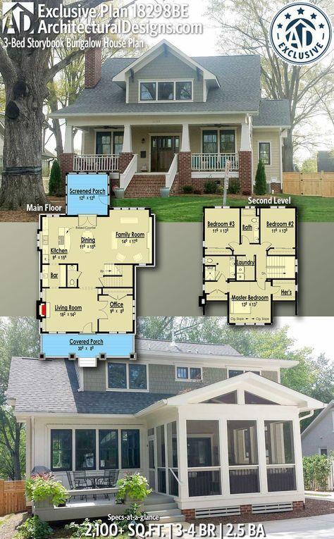 Architectural House Plans Exclusive Bungalow House Plan 18298be For Architectural Designs Offers You 3 Architectural House Plans Storybook House Plan Craftsman House Plans Bungalow House Plans