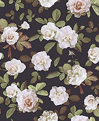 Haokhome 93021 Vintage Floral Peel And Stick Wallpaper Removable Brown Pink Green Rose Self Adhesive She Peel And Stick Wallpaper Wallpapers Vintage Green Rose Floral peel and stick wallpaper amazon