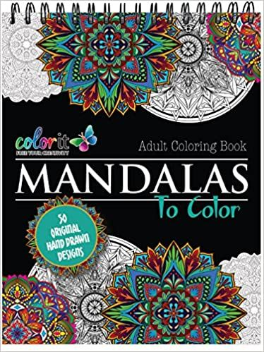 Mandala Coloring Book For Adults With Thick Artist Quality Paper Hardback Covers And Spiral Binding By Coloring Books Mandala Coloring Mandala Coloring Books