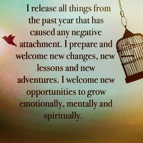 I release All negative energy from other people in 2015 to prepare for 2016...
