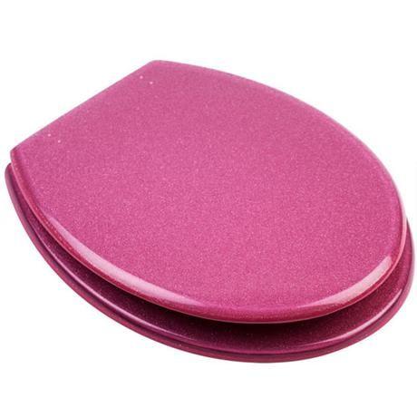 Fine Euroshowers Pink Glitter Resin Toilet Seat 81980 For Theyellowbook Wood Chair Design Ideas Theyellowbookinfo
