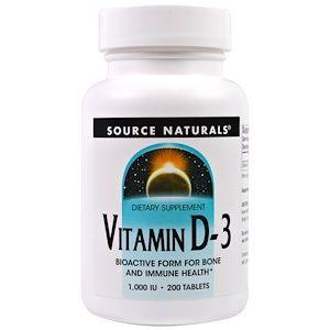Source Naturals ビタミン D 3 1 000 Iu 200粒 Vitamins Natural Dietary Supplements Vitamin D