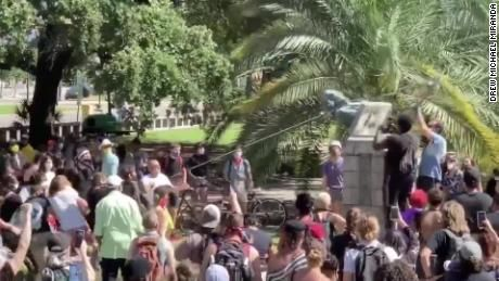 Video Shows Protesters Toppling Statue Of John Mcdonogh In New Orleans Cnn Video New Orleans Statues Mississippi River Orleans