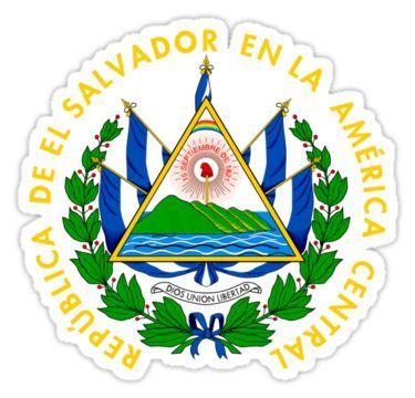 Coat Of Arms Of El Salvador Sticker By Abbeyz71 In 2021 El Salvador Flag El Salvador Art Coat Of Arms