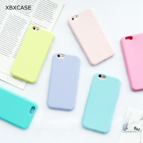 219eb7b70 Macarons Color TPU Silicone Frosted Matte Case for iPhone 6 6S Plus 7 7Plus  Protection Shell