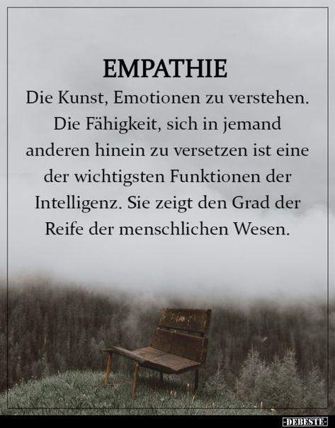 Empathie - Die Kunst, Emotionen zu verstehen... | Lustige Bilder, Sprüche, Witze, echt lustig