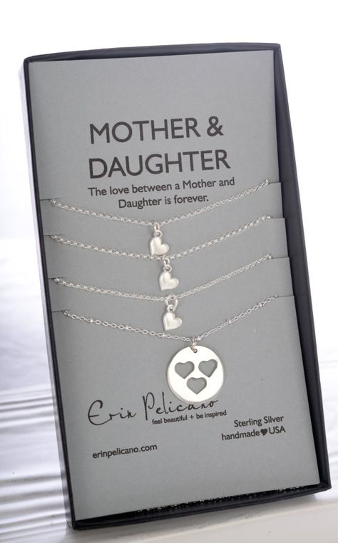 Mother Daughter Necklace. Mom Birthday Mother of by erinpelicano