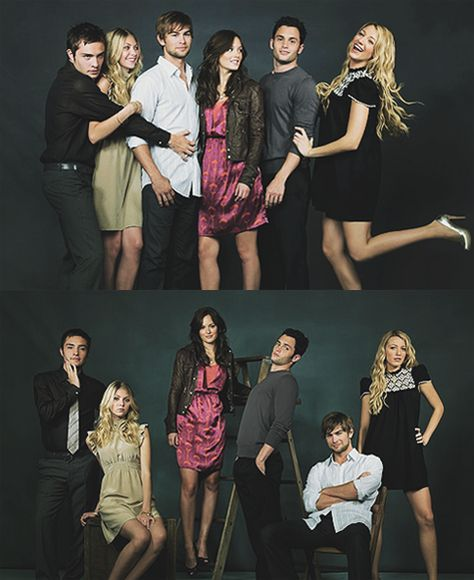another picture of the cast of Gossip Girl...I'm obsessed with that show.