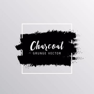 Charcoal Grunge Background Set Grunge Draw Png And Vector With
