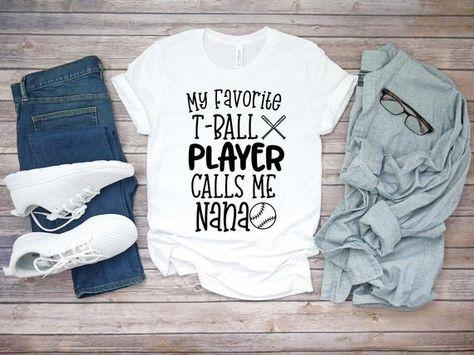 05e6a8fb My Favorite T-Ball Player Calls Me Nana Shirt- Short-Sleeve Unisex T