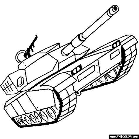 M1 Abrams Tank Cartoon