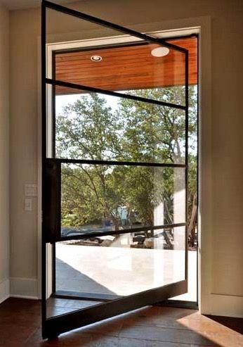 puerta pivotante vidrio arq puertas entradas pinterest - Puerta Pivotante