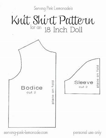 image result for free printable 18 doll clothes patterns