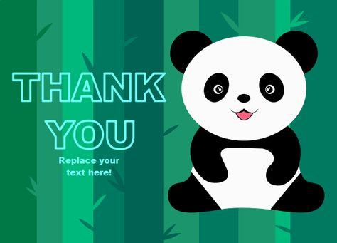 Express Your Blessings With This Cute And Neat Panda Thank