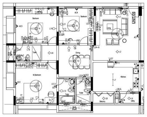 Image result for Electrical Wiring Diagram 3 Bedroom Flat | Electrical  wiring diagram, Electrical layout, Electrical wiring | Two Room Design With Wiring Diagram |  | Pinterest