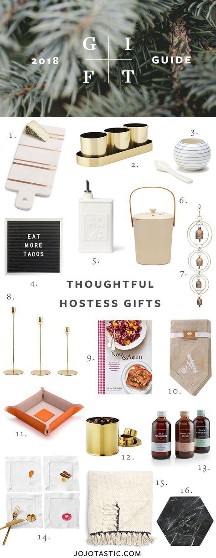 Thoughtful Hostess  Host Gift Ideas, Gift Guide for Christmas  Holidays 2018 via jojotastic.com #giftguide #hostessgift #hostgift #giftidea #giftgiving #gifts #presents #christmaspresents #christmasgiftideas #christmasgift