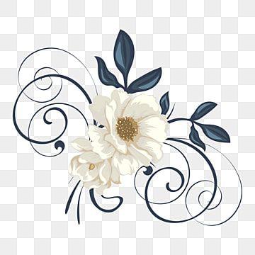 Ilustracion De Vector De Adorno De Flor Blanca Flor Floral Naturaleza Png Y Vector Para Descargar Gratis Pngtree In 2021 Flower Frame Leaf Art Flower Backgrounds