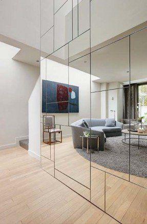Apotelesma Eikonas Gia Full Wall Mirror Living Room Mirror Design Wall Decor Interior Design House Design
