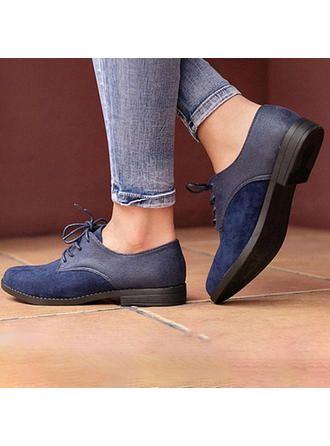 VERYVOGA Women's Suede Low Heel Flats