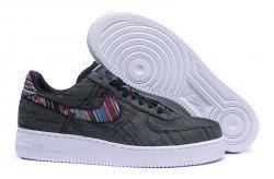 Men's Nike Air Force 1 07 LV8 Afro Punk Black White 823511
