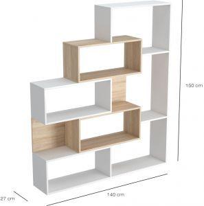 هوم مانيا ارفف كتب خشب متعدد الالوان Hompr 3037 تسوق الان بأفضل سعر في السعودية سوق كوم Bookcase Oak Shelves Decorating Shelves
