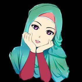 Wallpaper Anime Wanita Keren Kartun Hijab Kartun Animasi