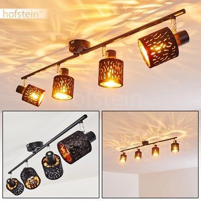 Vintage Decken Lampen schwarz//gold Flur Leuchten Wohn Schlaf Zimmer Beleuchtung
