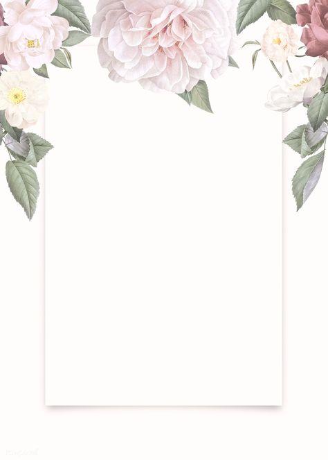 Elegant floral frame design illustration | premium image by rawpixel.com / Donlaya / ploy / manotang
