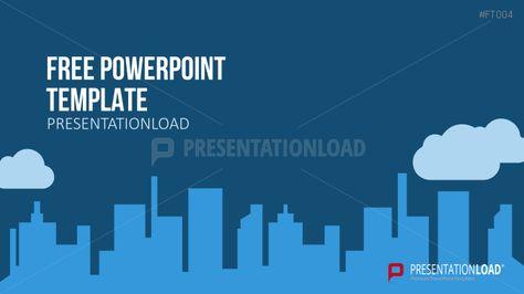 Presentationload Free Powerpoint Template City Skyline  Designing