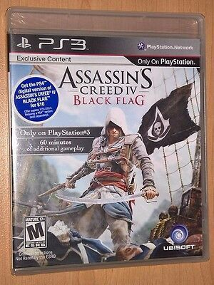 Assassin S Creed Iv Black Flag Sony Playstation 3 Ps3 New Sealed Video Game Ps4 Gaming Video Assassins Creed Black Flag Assassins Creed Assassin S Creed