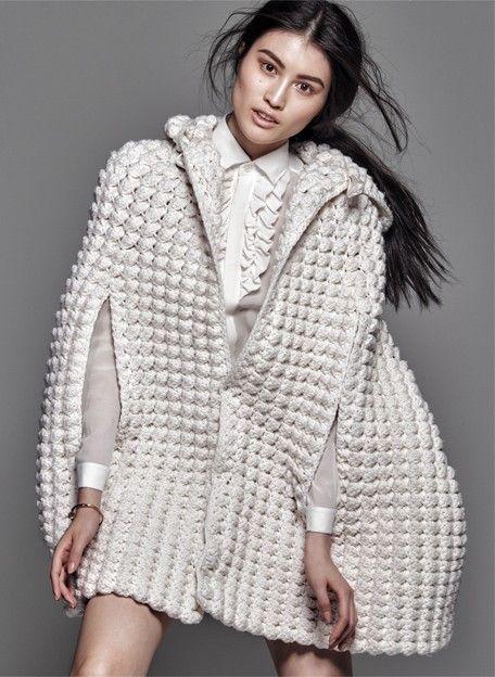 #fashion #crocheted #knitted  #poncho #winterfashion #handmade
