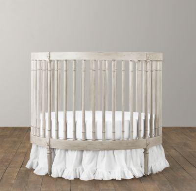 Ellery Round Crib Mattress Cribs Bassinets Restoration Hardware Baby Child Round Cribs