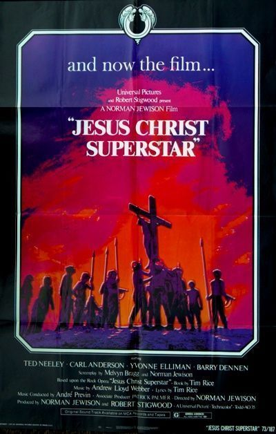 JESUS CHRIST SUPERSTAR - 1973 - original 27x41 movie poster - TED NEELEY