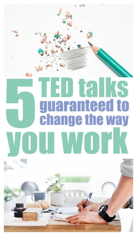 5 TED Talks To Improve Your Productivity