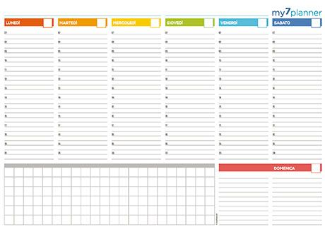 Planner Settimanale Da Tavolo Stampabili Planner