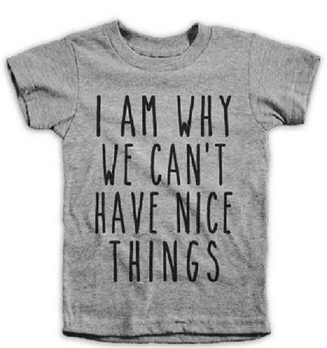 I Am Why We Cant Have Nice Things Boys T-Shirt  100% Cotton  Many Different Colors and Sizes to Choose From  Pick Your Size  Pick Your Color