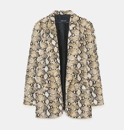 chaqueta estampado serpiente mujer zara