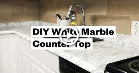 Transform Your Kitchen For 20 Diy White Marble Countertop Marble Countertops White Marble Diy White Marble Countertops