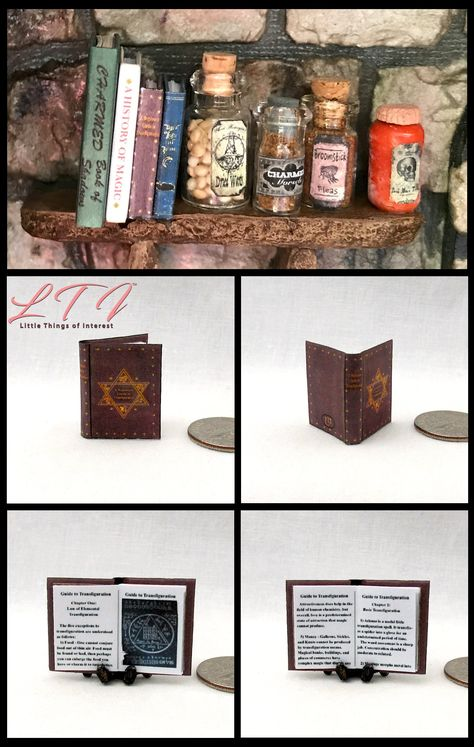 Dollhouse Miniature Set of 8 Harry Potter Books in 1:12 Scale US Covers