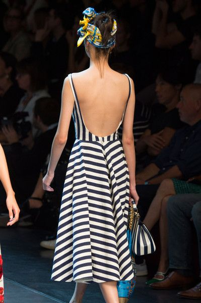 Dolce & Gabbana, Spring 2016 - The Most Beautiful Backless Dresses of 2016 - Photos