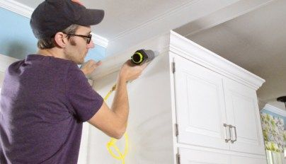 How To Install Crown Molding Yourself (With Video | Kitchen ...