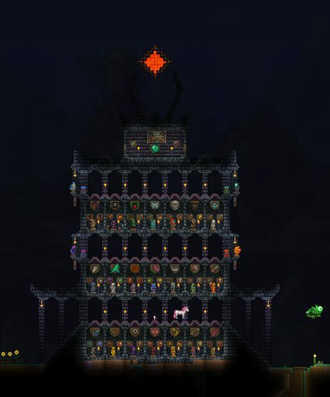 Trophy Room Boss Item Hall Trophy Rooms Terraria House Ideas