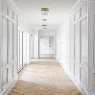 Floor To Ceiling Wainscot Detailed