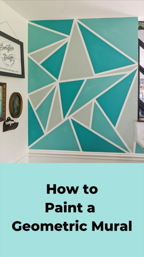 Free How to Paint a Geometric Mural