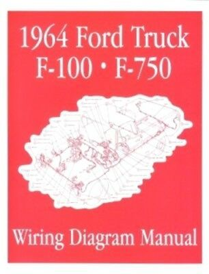 Details About Ford 1964 F100 F750 Truck Wiring Diagram Manual 64 With Images Diagram Electrical Diagram Ford