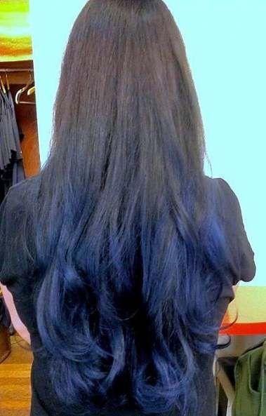 Hair Blue Ombre Brown 54 Super Ideas Blue Tips Hair Blue Ombre Hair Ombre Hair