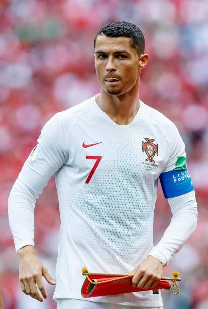 Cristiano Ronaldo Of Portugal Looks On Prior To The 2018 Fifa World Cristiano Ronaldo Juventus Ronaldo Cristiano Ronaldo