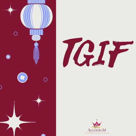 It's Friday! Make it a productive one. #tgif #itsfriday #friyay #fridayfeels #Allogramawards #awards #harnessthepowerofrecognition #Appreciation #smallbusiness #recognition #business success #leadership #award
