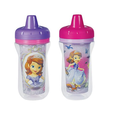 SOFIA THE 1ST 2 Pack Insulated Spill Proof Sippy Cups with